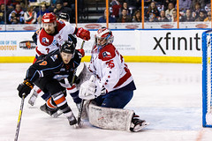 "Kansas City Mavericks vs. Allen Americans, February 24, 2018, Silverstein Eye Centers Arena, Independence, Missouri.  Photo: © John Howe / Howe Creative Photography, all rights reserved 2018 • <a style=""font-size:0.8em;"" href=""http://www.flickr.com/photos/134016632@N02/39790792764/"" target=""_blank"">View on Flickr</a>"