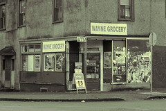 Wayne Grocery (annapolis_rose) Tags: vancouver strathcona campbellave grocery neighbourhoodgrocery sign waynegrocery