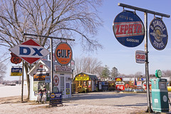 more gasolene advertising signs (WORLDS APART PHOTO) Tags: gasolenesigns enamelsigns bobsgasolenealley