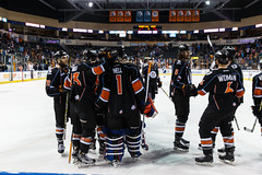 "Kansas City Mavericks vs. Toledo Walleye, January 21, 2018, Silverstein Eye Centers Arena, Independence, Missouri.  Photo: © John Howe / Howe Creative Photography, all rights reserved 2018. • <a style=""font-size:0.8em;"" href=""http://www.flickr.com/photos/134016632@N02/39839874891/"" target=""_blank"">View on Flickr</a>"