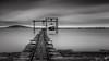 l'étang tout en gris (flo73400) Tags: gris étangdethau poselongue paysage longexposure landscape nb bw blackandwhite noiretblanc