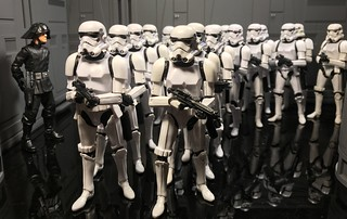 Troopers move out.