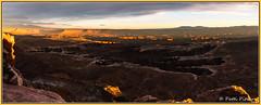 Canyonlands pano 2680 (roswell433) Tags: canyonlandsnationalpark moab utah canyon clouds landscape mesas panorama rockformations rocks sandstone sunset usa
