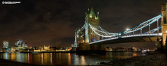 Super-wide London, Tower Bridge (Nigel Blake, 16 MILLION views! Many thanks!) Tags: thames towerbridge toweroflondon london panoramic mud night nightphotography longexposue stitched nigelblakephotography nigelblake