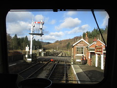 Drivers view from 66102 at Levisham 31Jan18