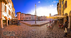 Piazza San Giacomo in Udine sunset panoramic view (brch1) Tags: piazzasangiacomo udine italy view square italia heritage landmark monumental old historic architecture mediterranean building stone rock walkway street tower architectural colorful scenery friuliveneziagiulia friuli arch town site village traditional house wall ancient rural alley city europe medieval path road scene sidewalk tourism paved italian monument giacomomatteotti sun sunset
