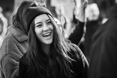 Downtown, Los Angeles, California (paccode) Tags: california d850 urban smile candid cap street people hat blackwhite monochrome winter downtown happy posing losangeles unitedstates us