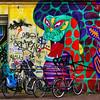Le gardien de vélos. Amsterdam (jjcordier) Tags: amsterdam tag mural dragon
