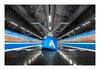 Subway to heaven (Andreas Larzon Photography) Tags: architecture blue centeredandsymetry intimatelandscape leadinglines longexposure metro nikond7200 sigma1020mmf35exdchsm solnastrand stockholm subway subwayart sweden symmetry tbana trainstation underground urbanlandscape floor lightstreaks vreten