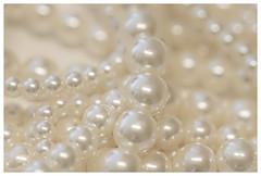 Bubbles and bokeh (Karon Elliott Edleson) Tags: macromondays monochrome bubbles pearls luminosity dreamy closeup 7dwf mondaysfreechoice bokeh