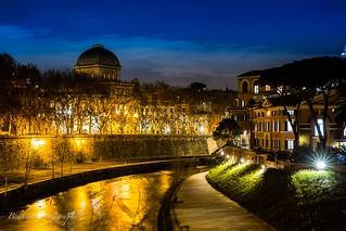 Depuis le pont GARIBALDI - Roma