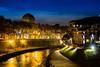 Depuis le pont GARIBALDI - Roma (Bouhsina Photography) Tags: tibre garibaldi rome italie bleu bouhsina bouhsinaphotography longue exposition time blue