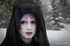 Eira Angelic 3 (makleen) Tags: eiraangelic model goth shironuri sacketsharbor newyork winter snow black red purple veil costume