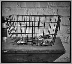 the old metal basket (Tony_Roman_Photography) Tags: leica m typ 240 elmar 50mm bw