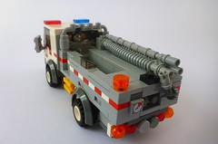 CFA Ultra Light Tanker 2 (Lonnie.96) Tags: lego brick moc own creation australia aus 2018 february fire emergency country authority metropolitan brigade state service forest management truck scania appliance mfb ses cfa ffm victoria tanker hazmat slip ultra light response altona red white blue orange 4wd car ute pumper green