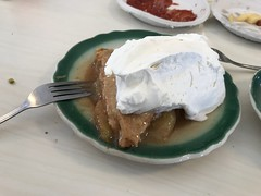 Apple Pie with tons of whip cream (shinnygogo) Tags: pie dessert westside losangeles applepie