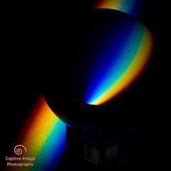 Rainbow and the Sphere (_Captive Image_) Tags: crystal ball color prism rainbow lowkey captiveimagephotogrpahy colour