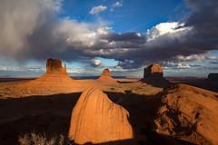 Olijato Valley (CDeahr23) Tags: monumentvalley olijatovalley arizona arizonapassages navajoreservation sky westmittenbutte eastmittenbutte merrickbutte desert desertsouthwest southwesternus clouds stormclouds sunset beautifullight
