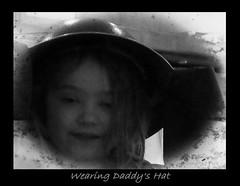 Wearing Daddy's Hat (Oul Gundog) Tags: eve ww1 war somme museum belgium france helmet ulster division newtownards ireland uk chidren face northern