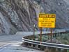 Warning Sign (maytag97) Tags: maytag97 nikon d750 warning sign danger yellow caution beware road guardrail stone bluff falling rock rolling flash floods