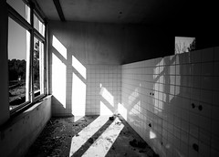 Urbex10 (Marek Hlaváč) Tags: urbex monochrome hospital architecture black white canon eos 6d ef20mm f28 usm window paving