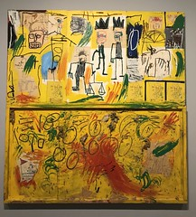 Untitled (Yellow Tar and Feathers), 1982, Jean-Michel BASQUIAT. (eROV65) Tags: alcatrãoamareloepenas yellowtarandfeathers centroculturalbancodobrasil ccbb mugrabi painting pinturas grafites desenhos draws bancodobrasil ministériodacultura masterpiece neoexpressionista colagem pop neoexpressionism exhibition artexhibition museum museu galeriadearte artgallery ccbbsp arte art exposição sãopaulo jeanmichelbasquiat basquiat coleçãomugrabi mugrabicollection grafitti samo samoisdead nyc graffiti