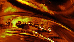 Bottom Edge Of A Jam Jar (1selecta) Tags: jamjar jar bottom edge lower orange red yellow redish reddish yellowish yelloish black streak streaked streaking