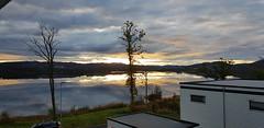 Sunset in the horizon - Norway (Kristoffer Hansen) Tags: sunset norway mountain lake trees