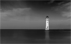 Perch Rock Lighthouse, New Brighton (Charles Connor) Tags: perchrocklighthouse newbrighton merseyside seascapes landscapephotography sea sky contrast lighthouses longexposures neutraldensityfilter monochrome mono canon6d canonef24105mmlens