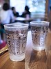 Cute glass cups : ) (Long Sleeper) Tags: drink cafe hattifnatt water cup cups glass glasses art illustration cute kawaii kichijoji tokyo japan dmcgx1