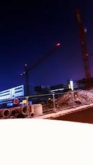 Schnee auf den Autos (eagle1effi) Tags: samsung s7 8s neblig foggy herma baustelle nightshot nacht nachtaufnahme rommel