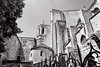 Absis Catedral de Girona (rossendgricasas) Tags: monochrome alley street town greenwich village several cobblestone gothic avenue step city architecture urban white light black girona catalonia church sky europe cathedral nikon