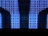 Blue on Blue (Steve Taylor (Photography)) Tags: art digital blue monocolor monocolour shape curve oblong rectangle