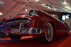 Click Bumper Corner For My Point of View (oybay©) Tags: barrettjackson barrett jackson scottsdale arizona car automobile conceptcar redcar red expensive unique chrome chromatic 1954 plymouth belmont convertible concept automotive museum antique classic historic old
