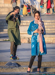 Naghsh-e Jahan Square, Isfahan, Iran (Feng Wei Photography) Tags: islamicculture unescoworldheritagesite traveldestinations isfahan islam persian vertical colorimage islamic female unesco famousplace iran iranianculture travel portrait tourist tourism persianculture middleeast irn