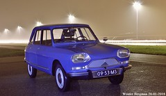 My Citroën Ami 8 Club (1970) (XBXG) Tags: 0953ms citroën ami 8 club 1970 citroënami8 citroënami ami8 bleu danube blue nightshot night shot nocturne nuit hoofddorp nederland holland netherlands paysbas vintage old classic french car auto automobile voiture ancienne française vehicle outdoor road a5