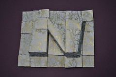Letter N (Natan Origami) Tags: origami 3d origami3d geometry geometría geometric geométrico art arte geometricart artegeométrico paper papel design diseño abstract abstracto polygons polígonos letter n lettern gold golden chiyogami nikond5000 origaminatan carlosnatanlópeznazario méxico