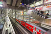 Berlin Railway station (rhianwhit) Tags: berlin hauptbahnhof railway station modern architecture metallic colour red