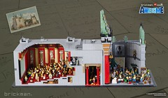 LEGO® brick Grauman's Chinese Theatre Sideview (TheBrickMan) Tags: lego brickman awesome theatre graumans chinese cutaway the movie
