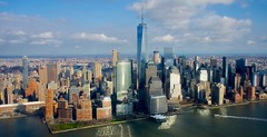 Downtown Manhattan (LucasHE) Tags: newyork nyc manhattan one world trade center skyscraper tall building skyline usa us united states america sony a7 a7ii north hudson river concrete jungle glass steel structures helicopter view city downtown lower
