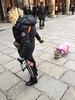 Walking with the pink pig (magellano) Tags: candid donna woman strada street maiale porco pig rosa pink piazza galvani bologna italia italy pet archiginnasio