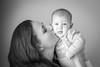 Kiss (Gyorgy Petrilla) Tags: kiss mother child portrait sweet baby love bw black white