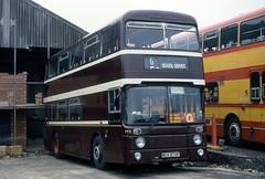 wyks - black prince morley mua870p depot 11-1992 JL (johnmightycat1) Tags: bus yorkshirewoollendistrict leeds leyland