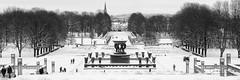 Le parc habité/The inhabited park/Den bebodda parken (Elf-8) Tags: norway oslo vigeland park sculpture winter bw