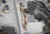 Männerspielplatz (Luftknipser) Tags: deutschland renemuehlmeier winter landkreisschwandorf land hochwasser luftbild bayern oberpfalz wetter aerial airpicture by deu fotohttprenemuehlmeierde germany luftaufnahme mailrebaergmxde upperpalatinate bavaria vonoben bagger sandgrube