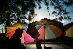 * (Sakulchai Sikitikul) Tags: street snap streetphotography songkhla sony a7s voigtlander 28mm umbrella silhouette thailand hatyai