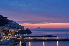 Amalfi -start of a new day (AgarwalArun) Tags: sony a7m2 sonyilce7m2 landscape scenic nature views amalfi amalficoast italy europe costieraamalfitana unescoworldheritage bayofnaples salerno sunrise reflections