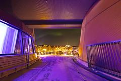 Passage (Role Bigler) Tags: canoneos5dsr gizo scandicishavshotel sigma14mm18art troms tromsö tromsø arctic auroraborealis cold hafen harbor haven hotel nordlicht norge northernlight norway passage pier polarlicht sea shore sky snow view wideangle winter