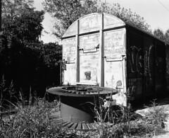 8893.Station (Greg.photographie) Tags: mamiya rb pros 6x7 sekor 65mm f45 film foma fomapan 100 r09 noiretblanc bw blackandwhite mediumformat moyenformat station old gare