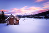 Sunset at Geroldsee in Germany / Bavaria (Simon.Ru) Tags: nature sunset sun color red blue hut hütte frozen winter lake germany bavaria clouds canon 6dmarkii sky longexposure beauty pretty tripod light snow cloudporn photooftheday tree pink mountains